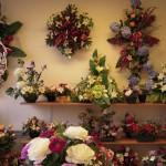 Composition florale artificielle deuil Marne